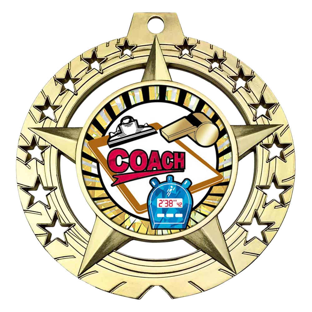 "Large 3-3/4"" Coach Medal"
