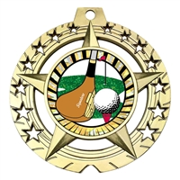"Large 3-3/4"" Golf Medal"