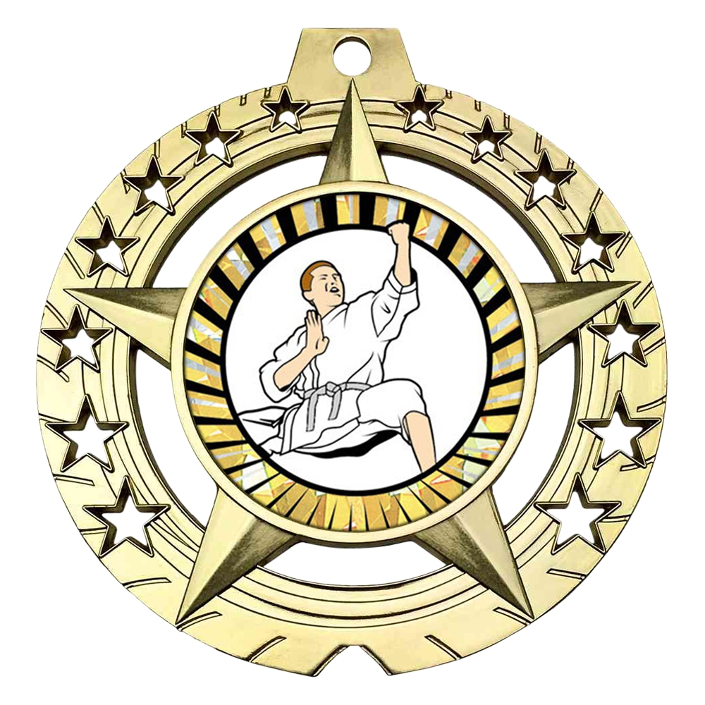 "Large 3-3/4"" Karate Medal"