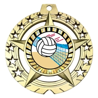 "Large 3-3/4"" Volleyball Medal"