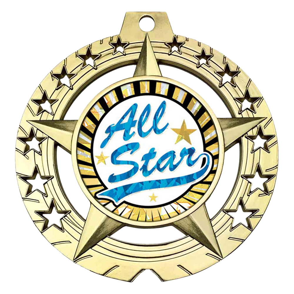 "Large 3-3/4"" All Star Medal"