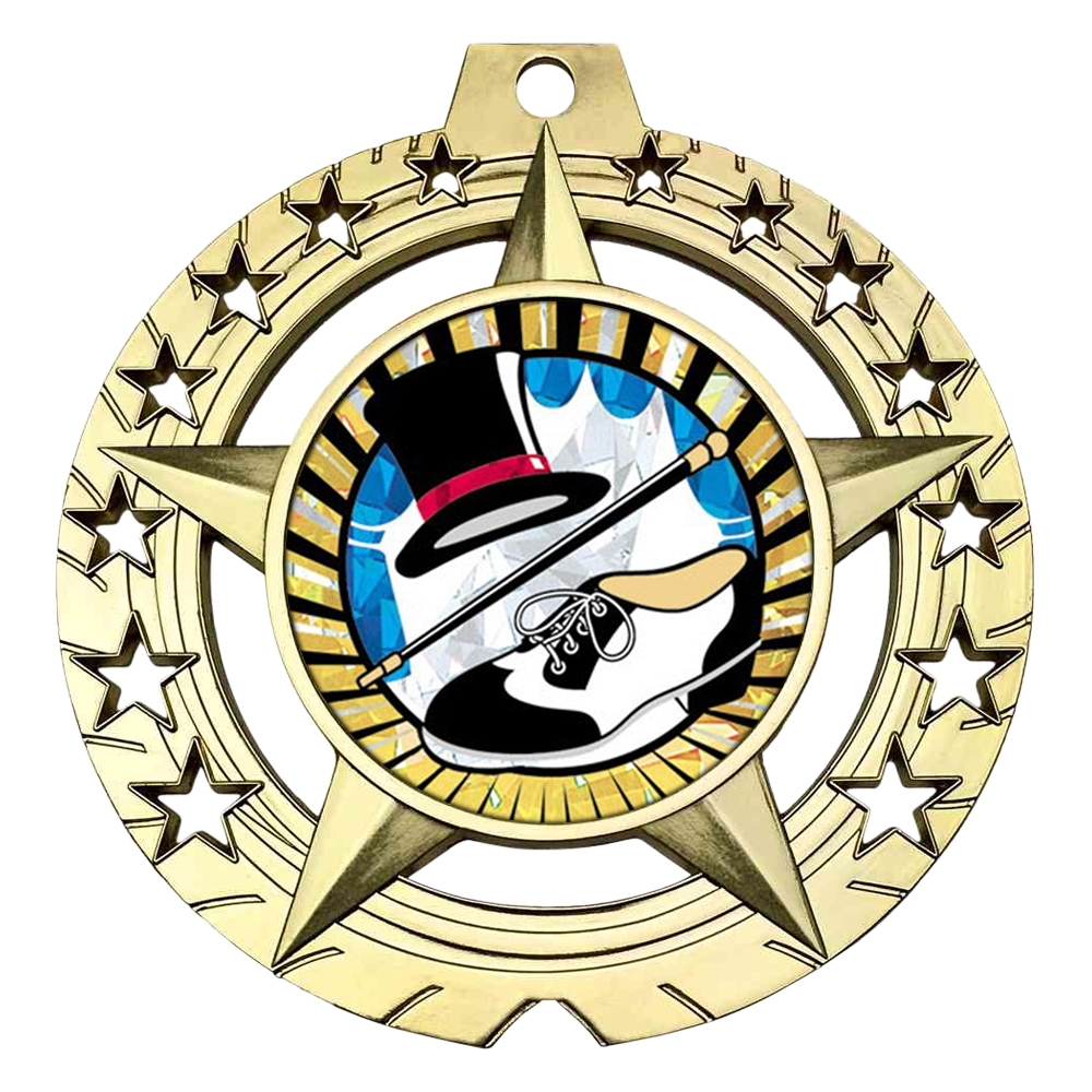 "Large 3-3/4"" Tap Dance Medal"