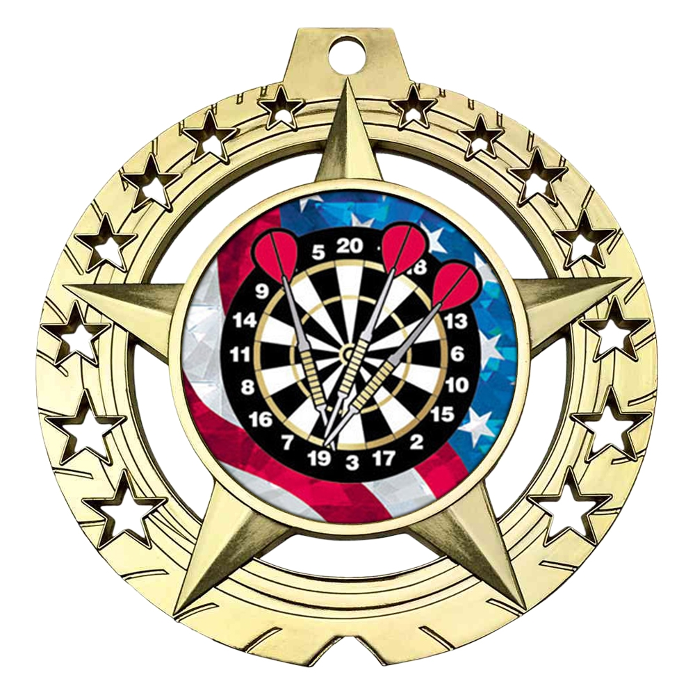 "Large 3-3/4""  Darts Medal"