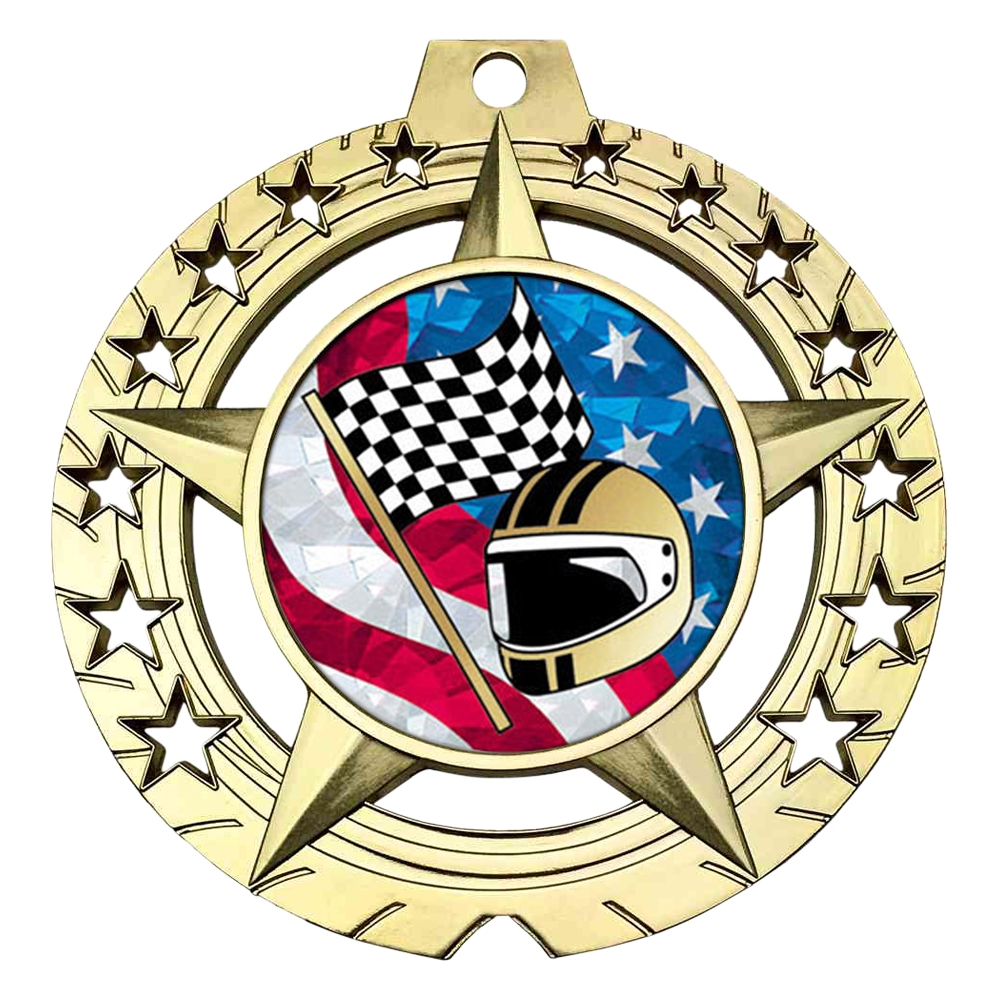 "Large 3-3/4""  Racing Medal"