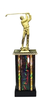 Moonbeam Column Riser Male Golf Trophy in 11 Color Options