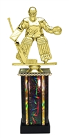 Moonbeam Column Riser Female Hockey Trophy in 11 Color Options