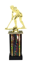 Moonbeam Column Riser Female Field Hockey Trophy in 11 Color Options