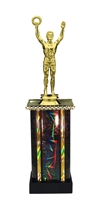 Moonbeam Column Riser Male Victory Trophy in 11 Color Options