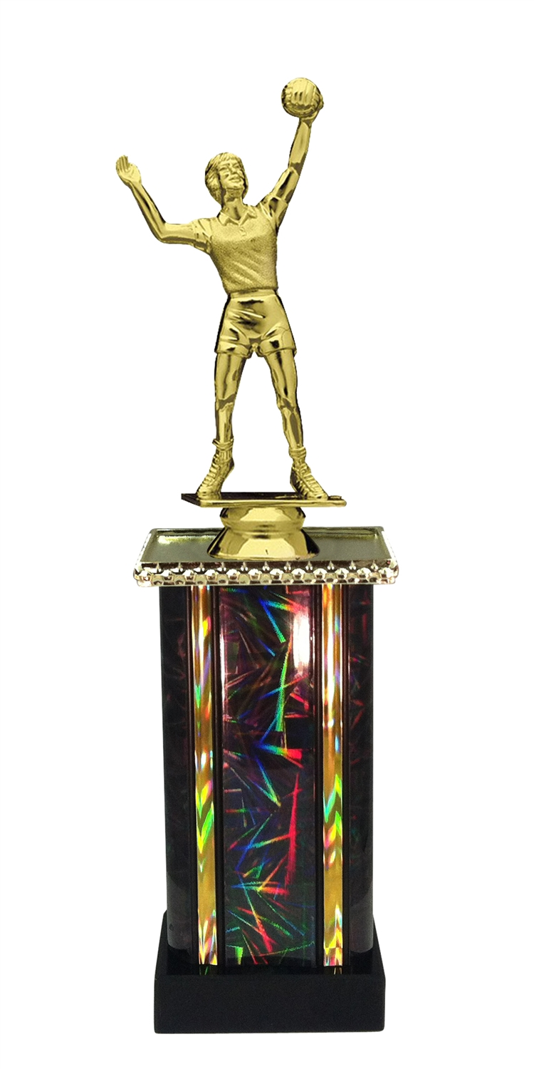Female Volleyball Trophy in 11 Color Options