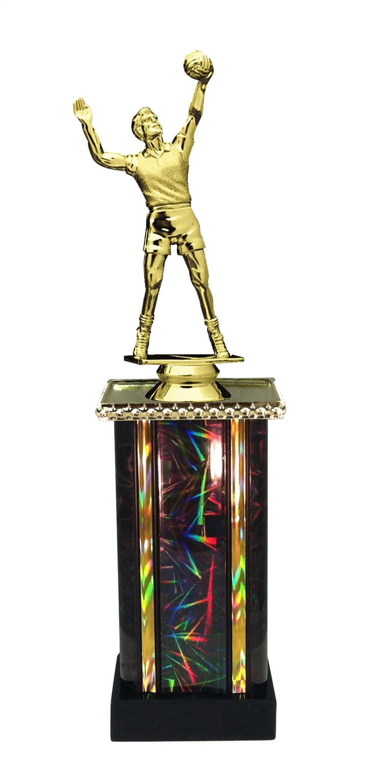Male Volleyball Trophy in 11 Color Options