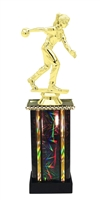 Female Candlestick Bowler Trophy in 11 Color Options