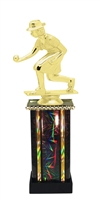 Female Lawn Bowling Trophy in 11 Color Options