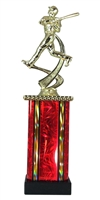 MB Column Baseball Figure Trophy in 11 Color Options
