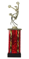MB Column Female Cheerleading Figure Trophy in 11 Color Options