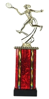 MB Column Female Tennis Figure Trophy in 11 Color Options