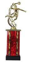 MB Column Male Volleyball Figure Trophy in 11 Color Options