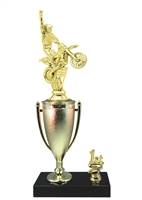 1st - 5th Place Cup Riser Motocross Trophy