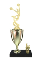 1st - 5th Place Cup Riser Cheerleading Trophy