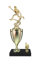 1st - 5th Place Cup Riser Female Lacrosse Trophy