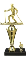 1st - 5th Place Crown Riser Cross Country Ski Trophy in 3 Sizes
