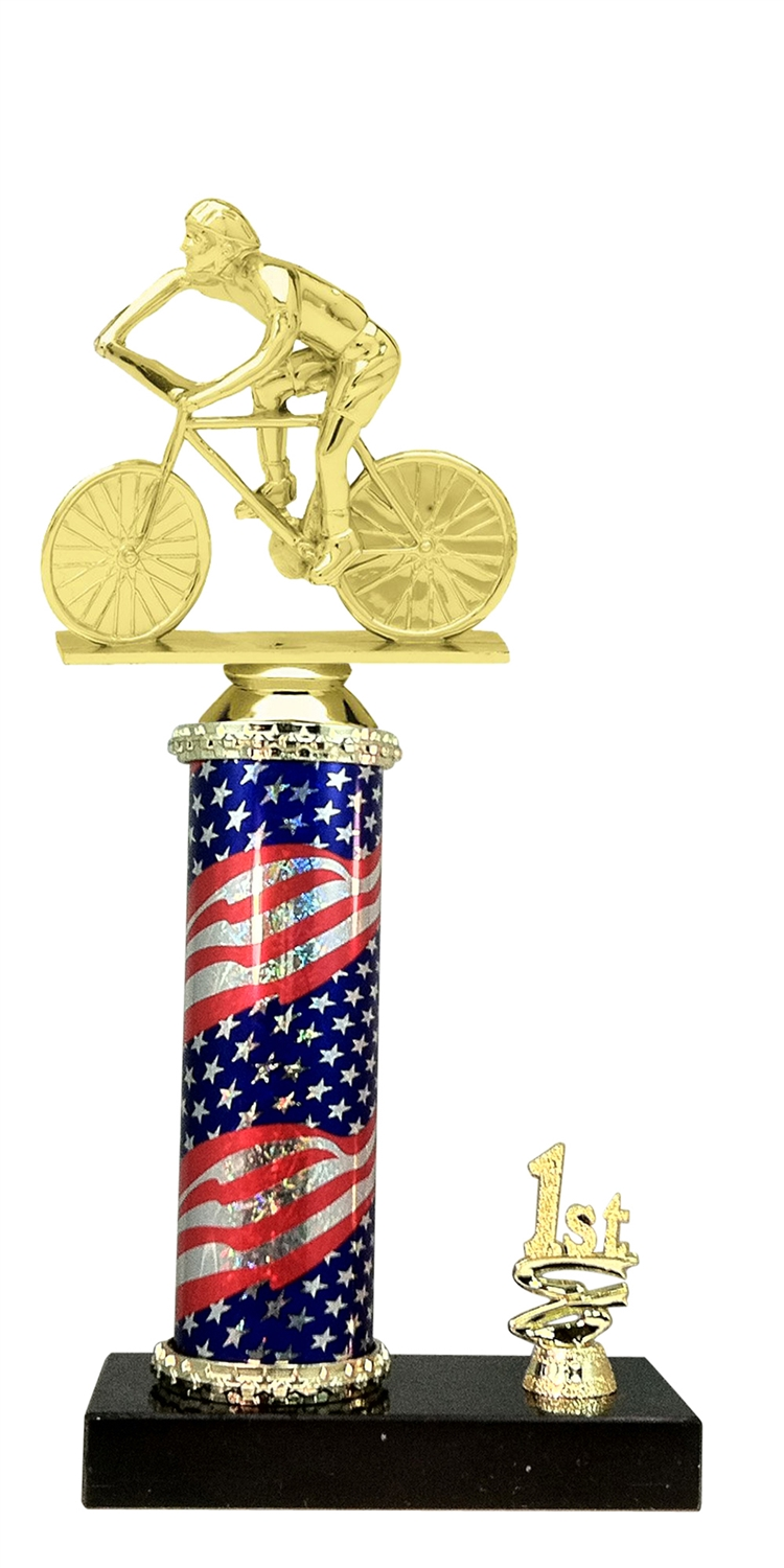 1st - 5th Place Flag Riser Male Cycling Trophy