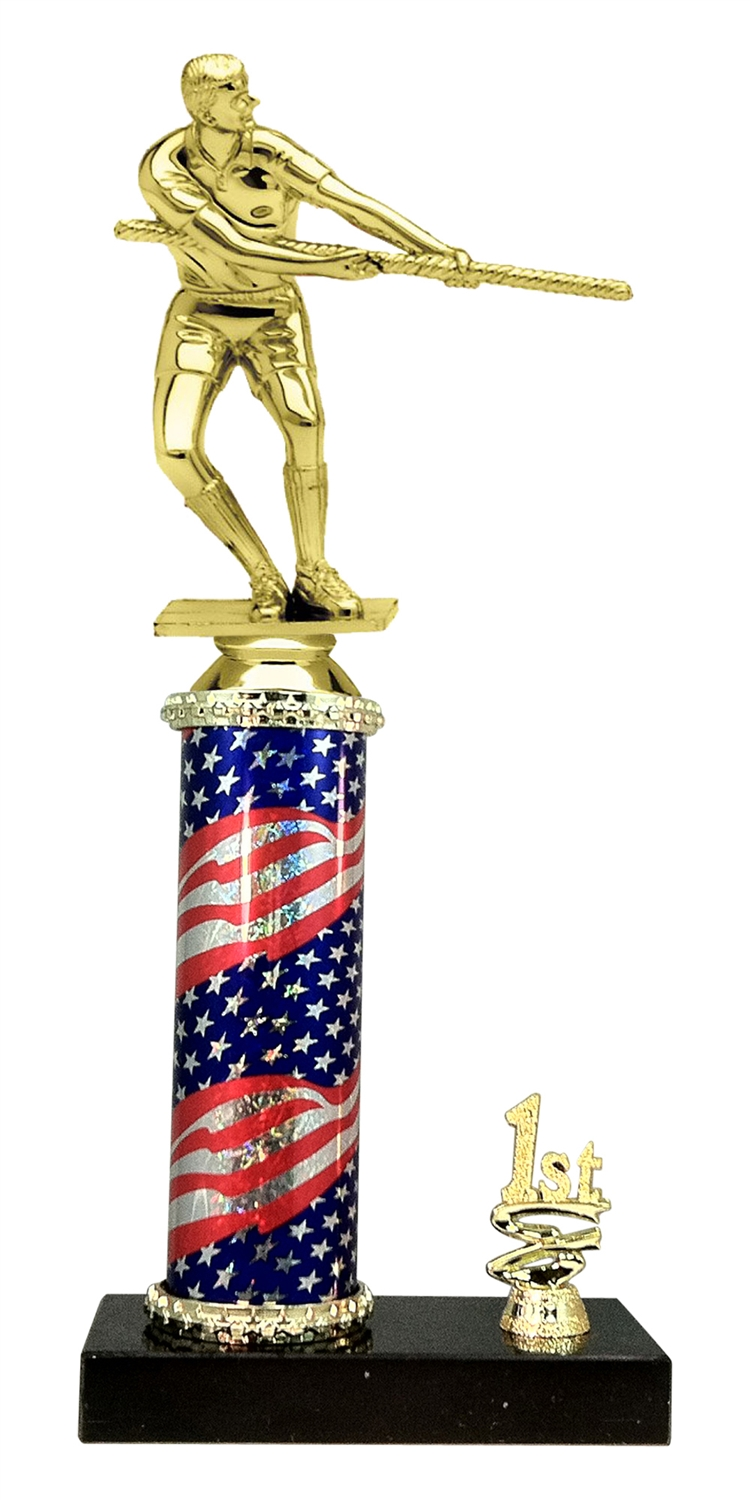 Tug of War Trophy 1st 2nd 3rd Place on marble base in (3 - Sizes)