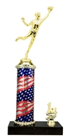 Baseball Outfielder Trophy 1st 2nd 3rd Place on marble base in (3 - Sizes)