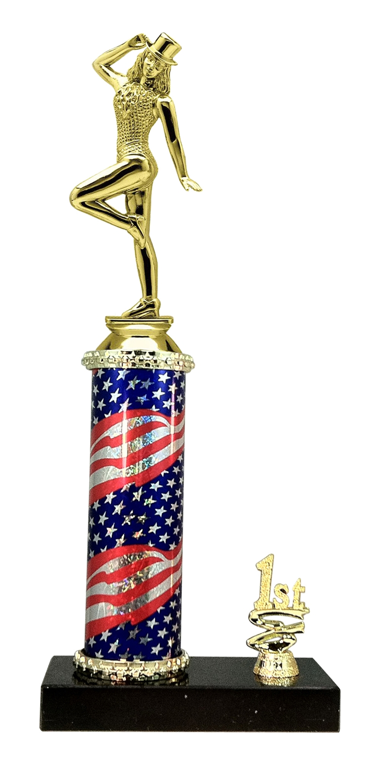 1st - 5th Place Flag Riser Tap Dance Trophy