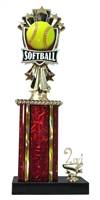 1st - 5th Place Allstar Softball Trophy in 11 Color Options