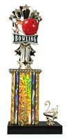1st - 5th Place Allstar Bowling Trophy in 11 Color Options