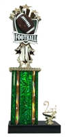1st - 5th Place Allstar Football Trophy in 11 Color Options