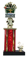 1st - 5th Place Allstar Lamp of Knowledge Trophy in 11 Color Options