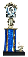 1st - 5th Place Allstar Swimming Trophy in 11 Color Options