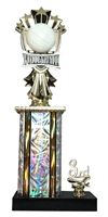 1st - 5th Place Allstar Volleyball Trophy in 11 Color Options