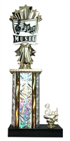 1st - 5th Place Allstar Music Trophy in 11 Color Options