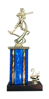 1st - 5th Place Moonbeam Riser Female Softball Trophy in 11 Color Options