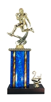 1st - 5th Place Moonbeam Riser Football Trophy in 11 Color Options