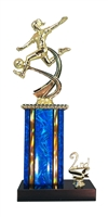 1st - 5th Place Moonbeam Riser Female Soccer Trophy in 11 Color Options