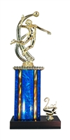 1st - 5th Place Moonbeam Riser Female Volleyball Trophy in 11 Color Options