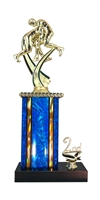 1st - 5th Place Moonbeam Riser Wrestling Trophy in 11 Color Options