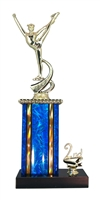 1st - 5th Place Moonbeam Riser Dance Trophy in 11 Color Options