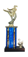 1st - 5th Place Moonbeam Riser Female Karate Trophy in 11 Color Options