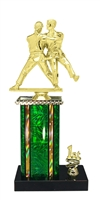 1st - 5th Place Moonbeam Riser Female Judo Trophy in 11 Color Options