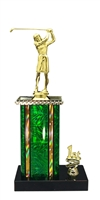 1st - 5th Place Moonbeam Riser Female Golf Trophy in 11 Color Options