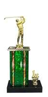1st - 5th Place Moonbeam Riser Male Golf Trophy in 11 Color Options