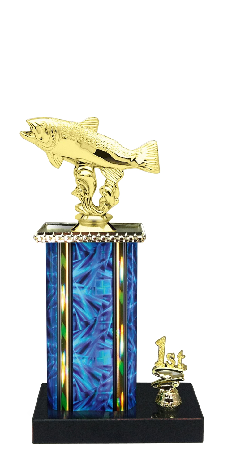 Trout Trophy 1st 2nd 3rd Place on marble base in (3 - Sizes)