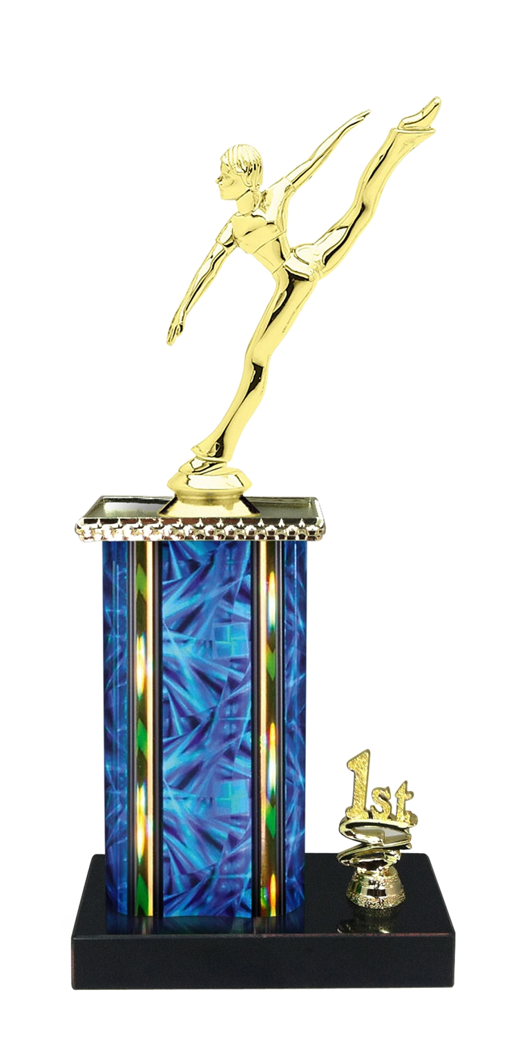 Dance Trophy 1st 2nd 3rd Place on marble base in (3 - Sizes)