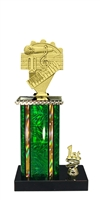1st - 5th Place Moonbeam Riser Music Trophy in 3 Sizes - in 11 Color Options