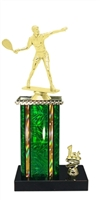 1st - 5th Place Moonbeam Riser Male Raquetball Trophy in 11 Color Options