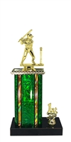 1st - 5th Place Moonbeam Riser Male T-Ball Trophy in 11 Color Options